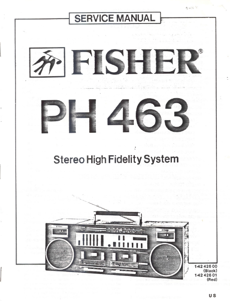 FENDER Fisher PH463 Service Manual