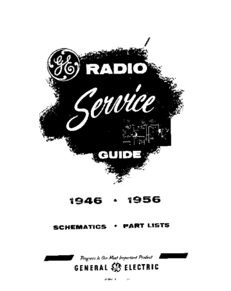 GE Radio Service Guide Model 219-220-221 Schematic and