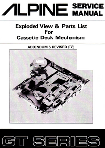 ALPINE GR GR-Y Series Cassette Deck Revised VI Service Manual