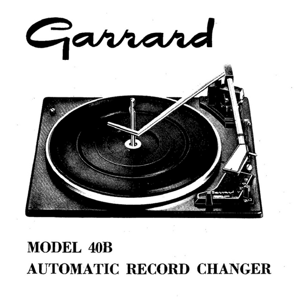 Garrard Model 40B Service Manual