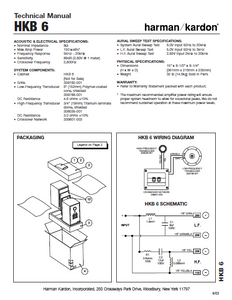 Harman Kardon HKB 6 Technical Manual