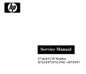 Hewlett Packard HP-FP7317 Service Manual