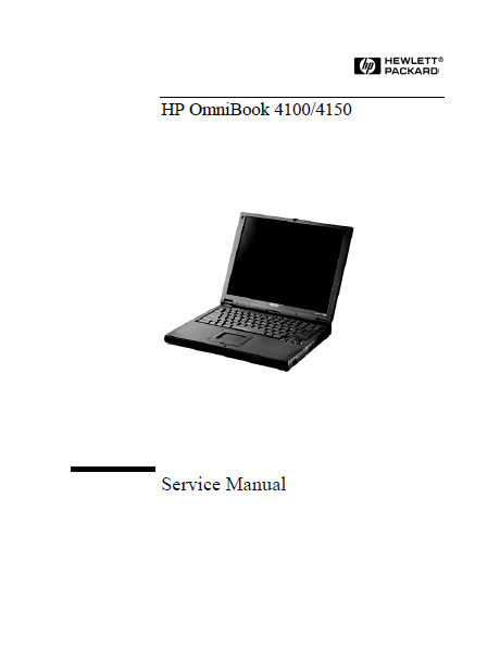 Hewlett Packard 4100-4150 OmniBook Service Manual
