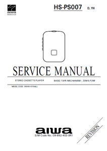 AIWA HS-PS007 Revision Stereo Cassette Service Manual