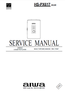 AIWA HS-PX617 Stereo Cassette Player Service Manual