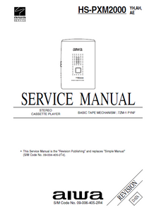 AIWA HS-PXM2000 Revision Stereo Cassette Player Service Manual