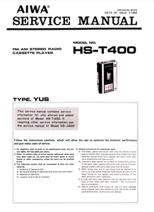 AIWA HS-T700 AM FM Stereo Radio Cassette Player Service Manual