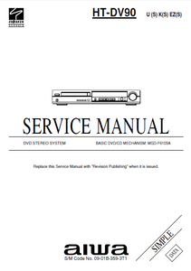 AIWA HT-DV90 Simple DVD Stereo System Service Manual
