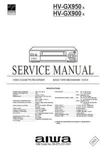 AIWA HV-FX950 K Video Cassette Recorder Service Manual