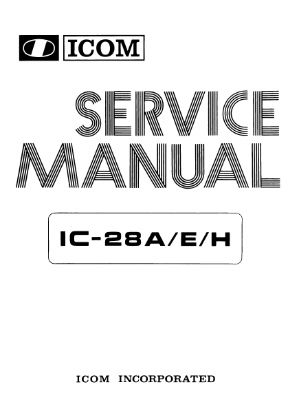 ICOM IC-28A Service Manual