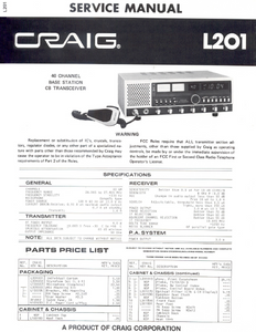 COBRA TO Cybernet-L201 CRAIG Service Manual