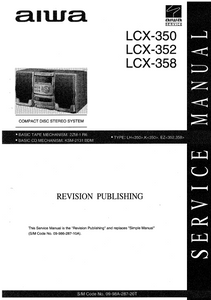 AIWA LCX-350 Revision Compact Disc Stereo System Service Manual