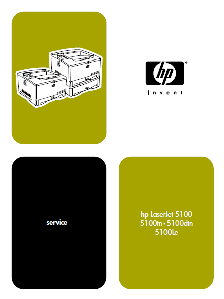 Hewlett Packard LaserJet 5100 Series Printers Service Manual