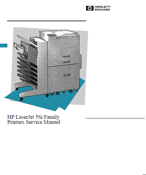Hewlett Packard LaserJet 5Si Family Printers Service Manual