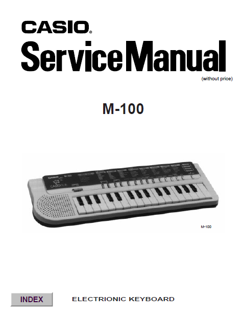 Audio TO Clearcom-M100 CASIO Service Manual