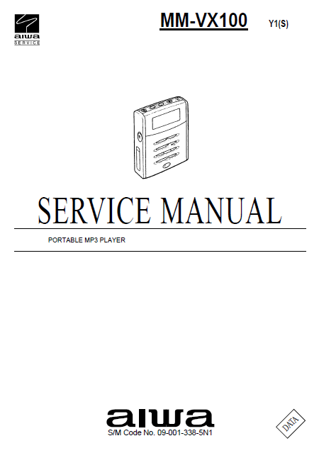 AIWA Portable MP3 Player MM-VX110 Service Manual