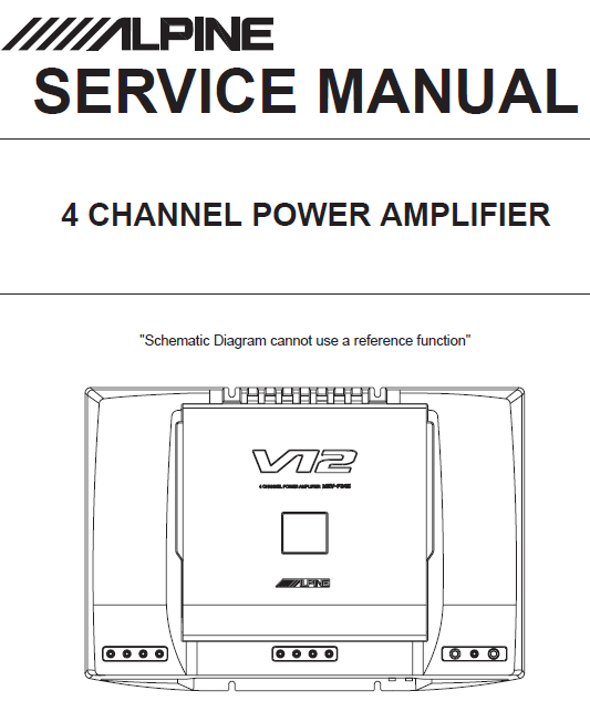 ALPINE MRV-F345  4Channel Power Amplifier Service Manual