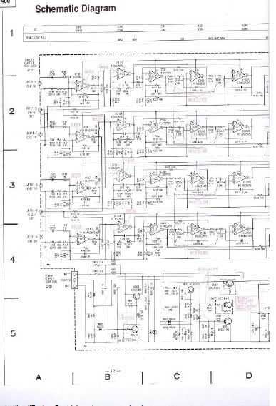 ALPINE MRV-F400 Channel Power Amplifier Schematics