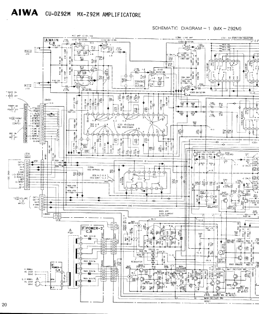 AIWA MX-Z92M Amplificatore Schematic