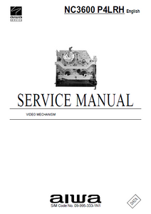 AIWA NC3600 P4LRH Video Mechanism Service Manual
