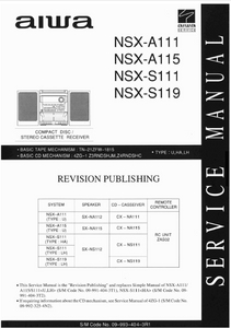 AIWA NSX-A111 Revision CD Stereo Cassette Receiver Service Manual
