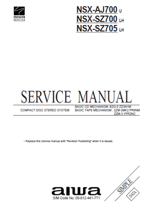 AIWA NSX-AJ700 U Simple CD Stereo System Service Manual