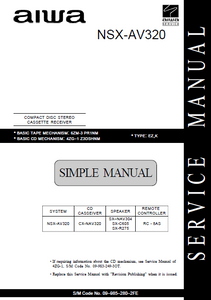 AIWA NSX-AV320 Simple CD Stereo Cassette Receiver Service Manual