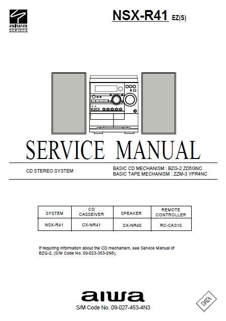 AIWA NSX-R41 Service Manual