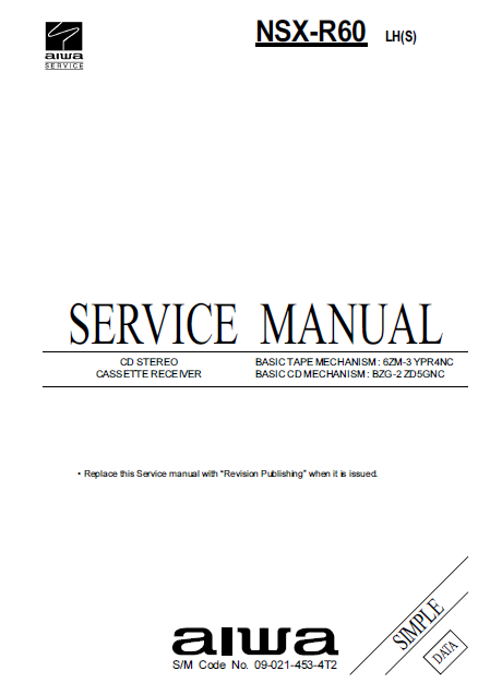 AIWA NSX-R60 Service Manual