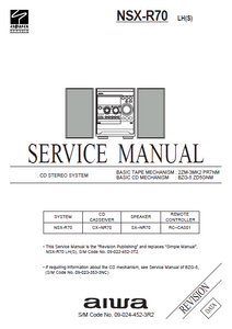 AIWA NSX-R70 Service Manual