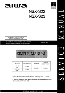 AIWA NSX-S22 S23 Service Manual