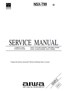 AIWA NSX-T99 EZ Simple CD Stereo Service Manual
