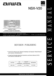 AIWA NSX-V20 Revision CD Stereo Receiver Service Manual