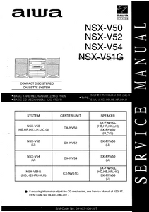 AIWA NSX-V50 Compact Disc Stereo Cassette System Service Manual