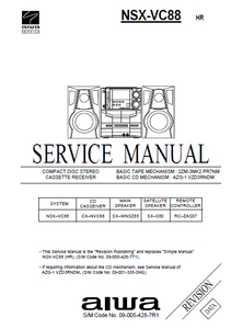 AIWA NSX-VC88 HR Revision CD Stereo Receiver Service Manual