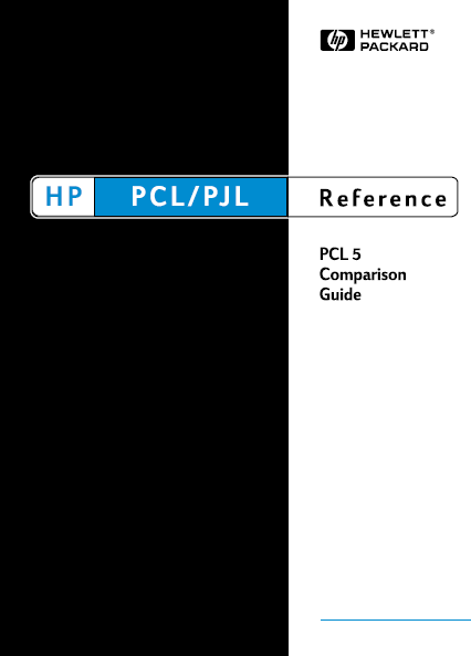 Hewlett Packard LaserJet PCL 5 comparison Service Manual