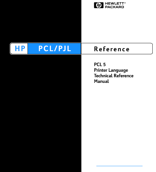 Hewlett Packard LaserJet PCL 5 Printer Language Technical Reference Service Manual