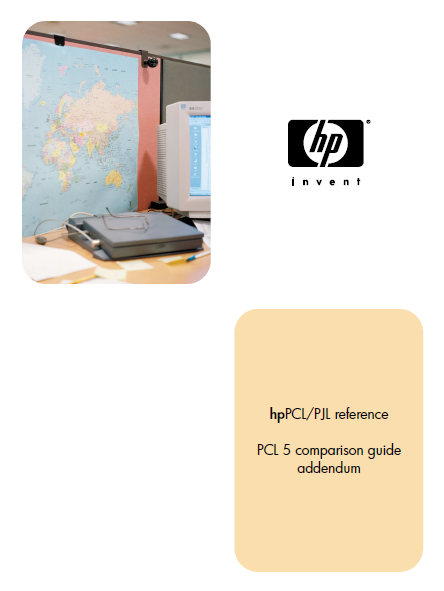 Hewlett Packard PCL 5 Comparison addendum Service Manual