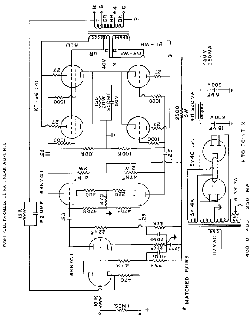 Acrosound Push Pull Parallel Amp Schematic