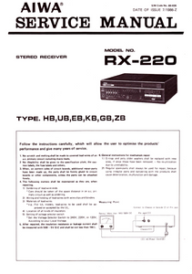 AIWA RX-220 Stereo Receiver Service Manual