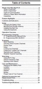 BEARCAT SC150Y Radio Scanner Owner's Manual