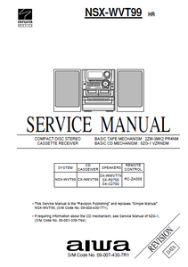 AIWA SX-C2700 Revision CD Stereo Receiver Service Manual