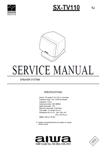 AIWA SX-STV110 Speaker System Operation Manual