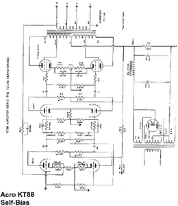 Acrosound Self Bias KT88 Schematic