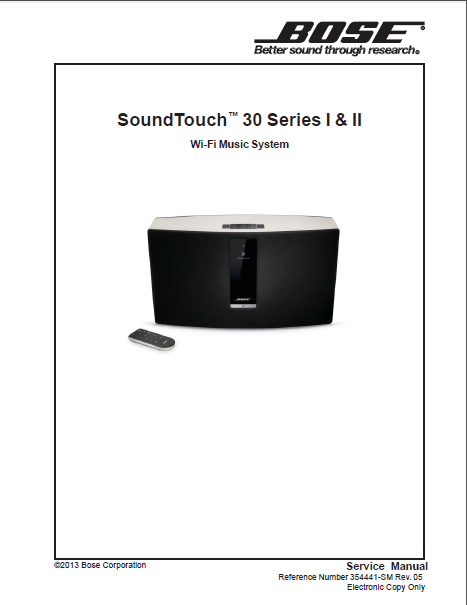BOSE SoundTouch 30Series I-II WiFi System Service Manual