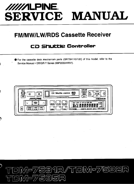 ALPINE TDM-7531R CD Shuttle Controller Schematics