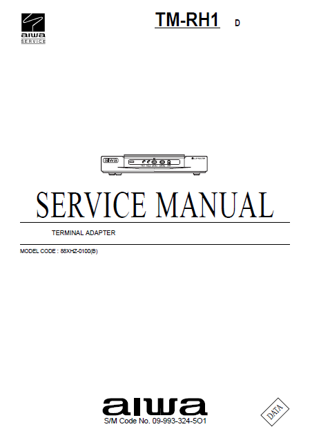 AIWA TM-RH1 D Terminal Adapter Operations Manual