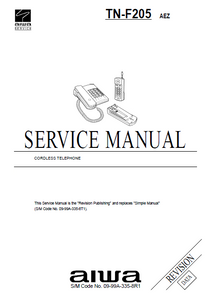 AIWA TN-F205 Revision Cordless Telephone Service Manual