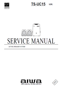 AIWA TS-UC15U Active Speaker System Service Manual