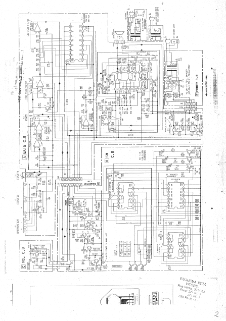 AIWA TS-W45 Active Speaker System Schematic